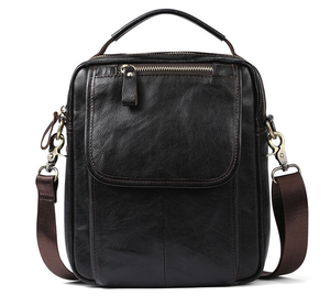 Image 2 - Real leather mens single shoulder/cross body bag top layer cowhide waxy leather mens bag.pinepoxp bag