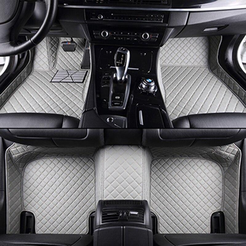 Personnalisé de voiture tapis de sol pour peugeot tous les modèles 307 206 308 407 207 406 408 301 3008 accessoires de voiture voiture style étage tapis