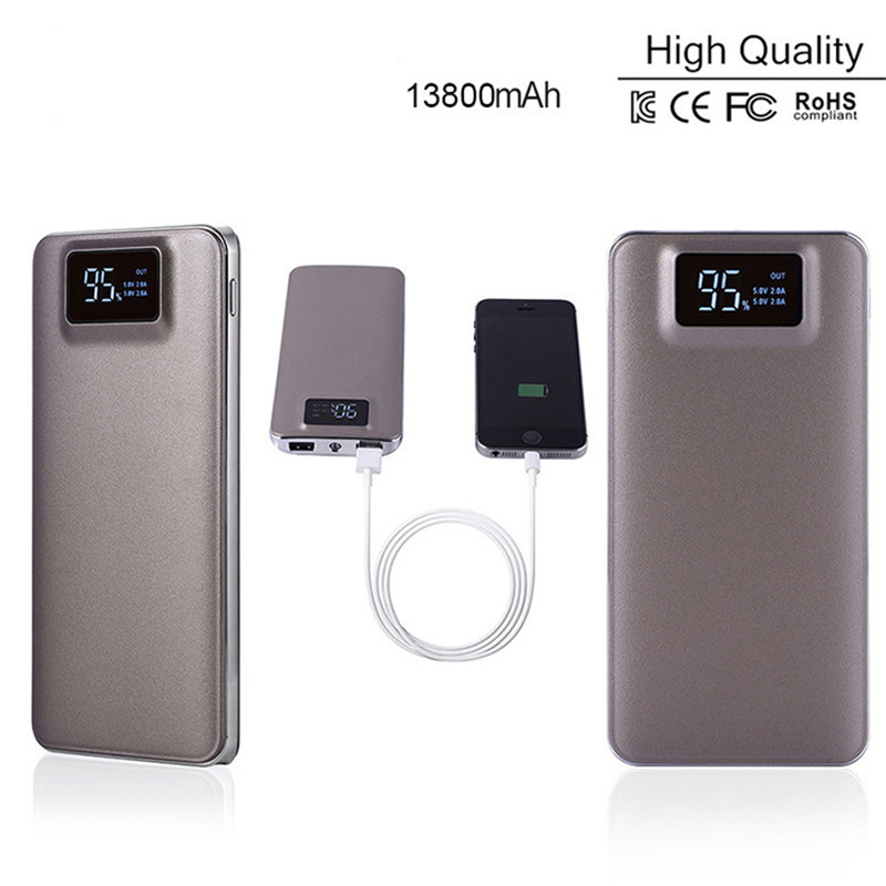 imágenes para LCD Dual usb Banco de la Energía de Reserva Portable Del Cargador de Batería Powerbank Carregador de Bateria Portatil Bateria externa