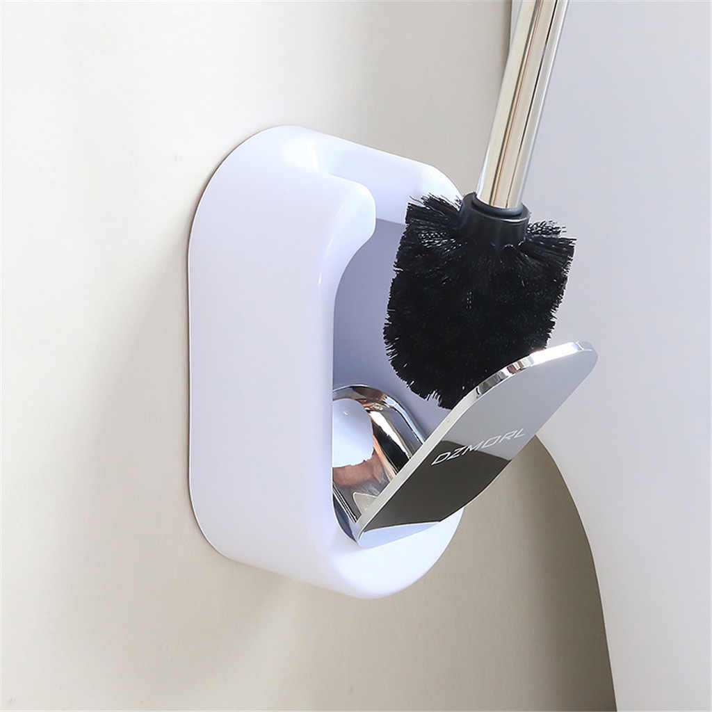 Toilet brush set wall-mounted toilet brush and bracket set stainless steel bathroom toilet brush L0411