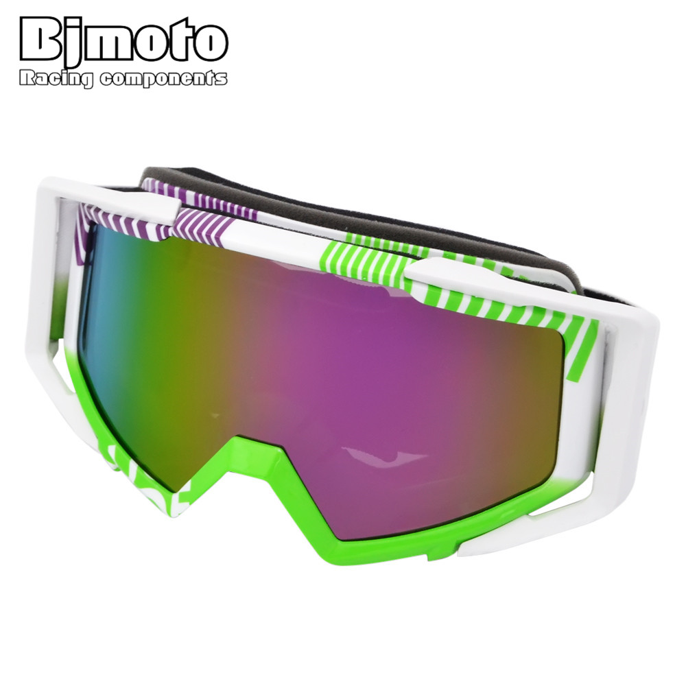BJMOTO MG-020A-04-UV 2017 New Arrival Transparent/UV Sport Racing Off Road Motocross Goggles Glasses for Motorcycle Dirt Bike