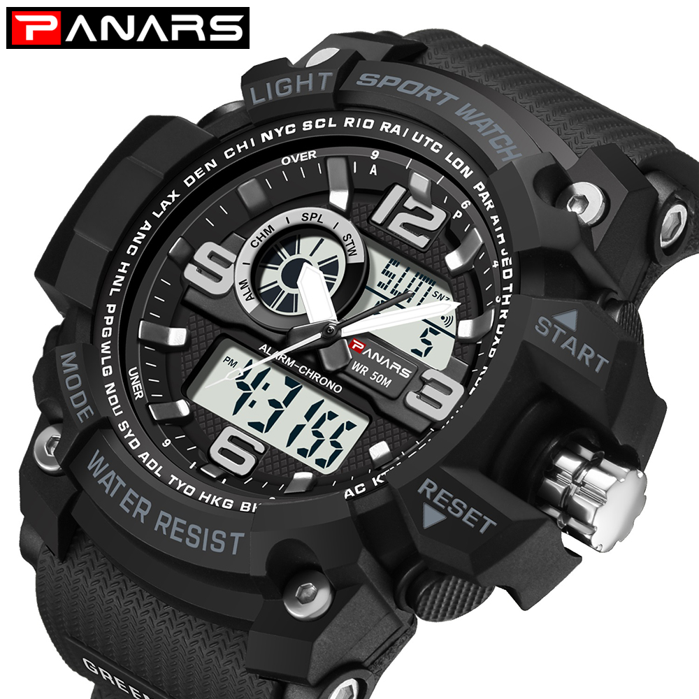PANARS Watch Digital-Shock Masculino Military Men Luxury Relogio LED Sport Quartz-G