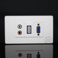 120MM Wall Face Plate RCA AV HDMI VGA Socket Outlet Assorted Panel Covers Faceplate