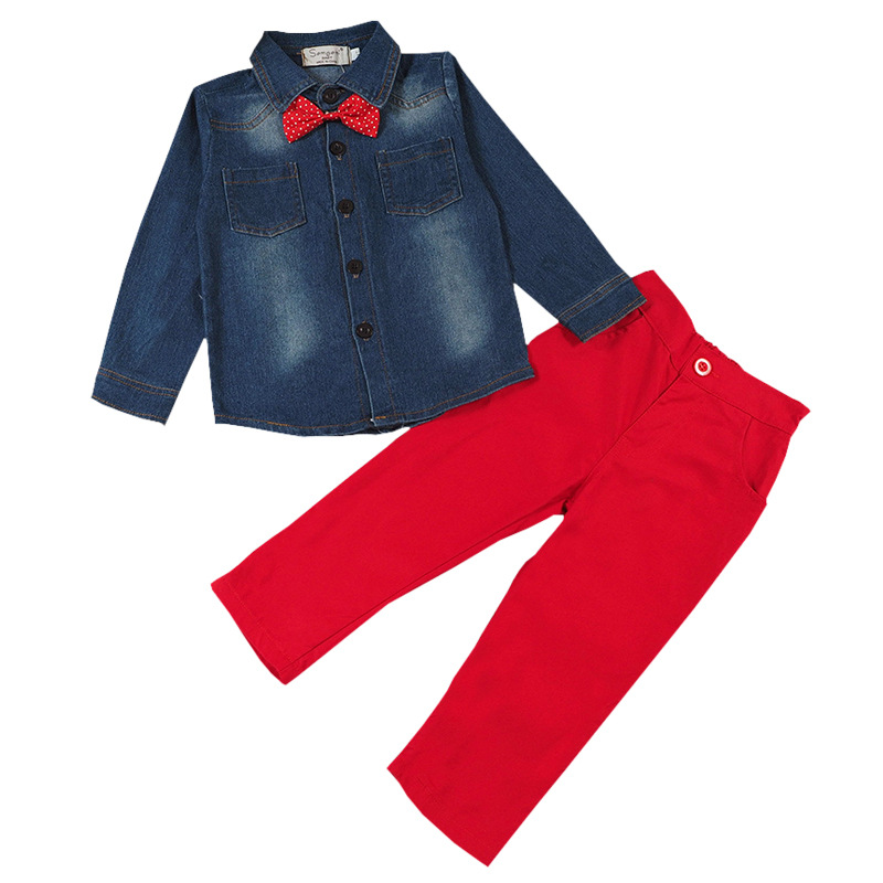 Childrens-clothing-sets-for-spring-Baby-boy-suit-Long-sleeve-plaid-shirtscar-printing-t-shirtjeans-3pcs-suit-set-3