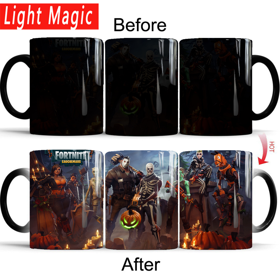 Easter Fortnite mugs magic color changing mugs cup 350ml ceramic coffee tea mug best Easter gift for your friends
