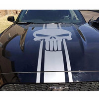 car decal vinyl hood sticker for ford mustang shelby sport punisher racing stripes