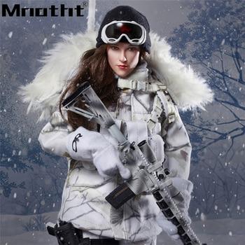 1/6 FLAGSET 73013 Action Figures Full Set Toys Snow female gunmen With Head Sculpt Glue Body Coat Pants Model m5
