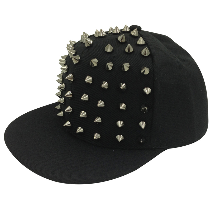 2016 New Arrive Fashion punk rivets hip hop flat along baseball caps peaked hats Snapback caps for man and woman free shipping