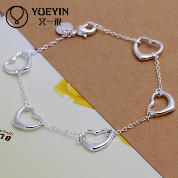Kind-Hearted Charm Bracelets Link Chain Silver Plated Bracelet For Women Men Unisex Jewelry Hand Chain H213 Lovers Classic To Invigorate Health Effectively Bracelets & Bangles Jewelry & Accessories