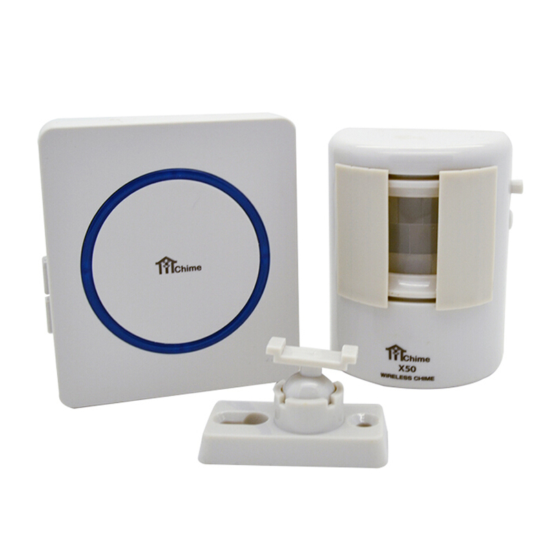 1+1 200m Wireless Remote Control Visitor Guest Welcome Entry Doorbell Chime Motion PIR Detector & 35 Tunes Songs DoorBell