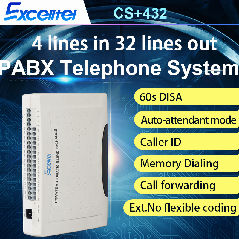 Phone System / SOHO PABX System / Mini PBX/CS+432/ 4 PSTN Line 32 Extension