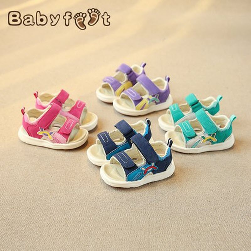 Babyfeet summer new baby toddler shoes non-slip children's function sandals girls soft bottom boys 0-2 years old babyfeet newborn baby boy shoes toddler sandals leather non slip kids shoes 0 1 years old boy girl children infant infantile