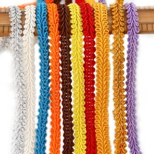 5Meters 8mm Trim Sewing Lace Gold Silver Centipede Braided Ribbon Home Party Decoration DIY Clothes Curve Seing