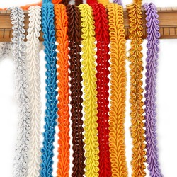 5Meters 8mm Trim Sewing Lace Gold Silver Centipede Braided Lace Ribbon Home Party Decoration DIY Clothes Curve Seing Lace