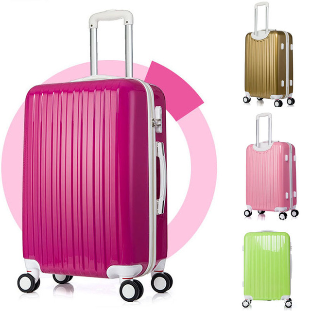20-inch Hardside wheel Rolling Luggage bright Surface trolley luggage suitcase trunk traveling case 4colors mala de viagem valiz