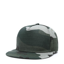 Cotton Camouflage Hip Hop Hat Flat Eaves European and American