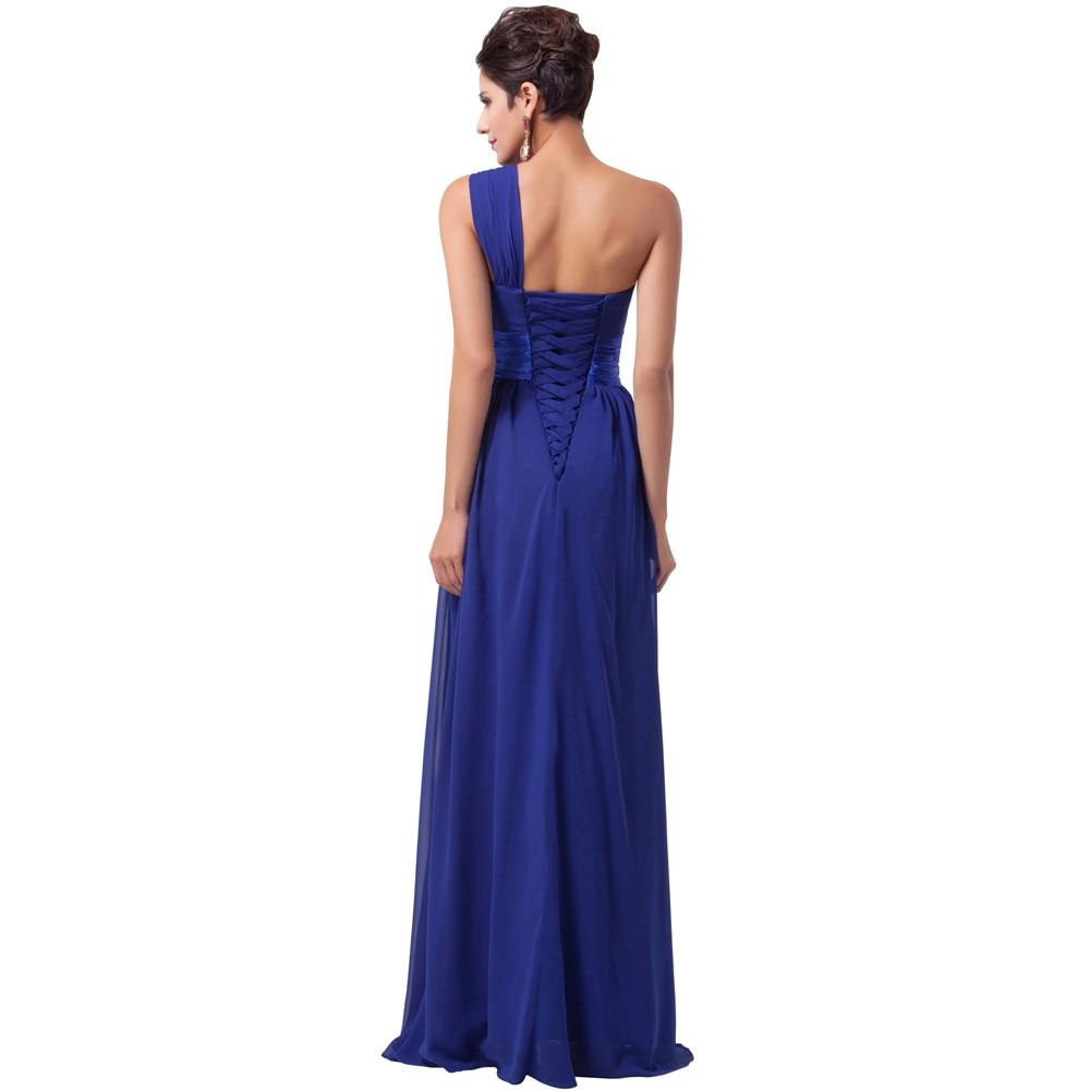 White One Shoulder Chiffon Prom Dress