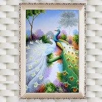 5D DIY Diamond Peacock Diamond Mosaic New Peacock Soul Love Round Diamond Painting Cross Stitch Set