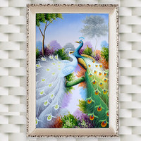 5D DIY Diamond Peacock Diamond Mosaic New Peacock Soul Love Round Diamond Painting Cross Stitch Set
