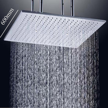 Modern Bathroom Shower Accessories Air Booster Square Head Rainfall Massage Spray Stainless Steel