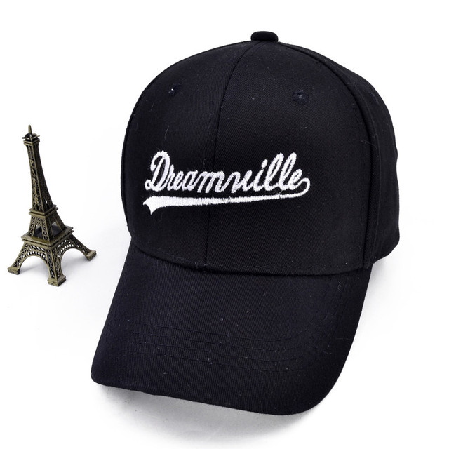 Dreamville Custom Unstructured Black Dad Hat Unisex Casual Baseball Caps  Letter Adjustable sports hat 1d8aa961b3eb