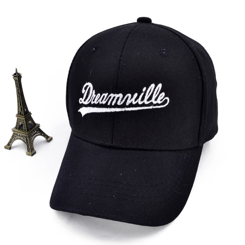 Dreamville   cap   Custom Unstructured Black Dad Hat Unisex Casual   Baseball     Caps   Letter Adjustable sports hat