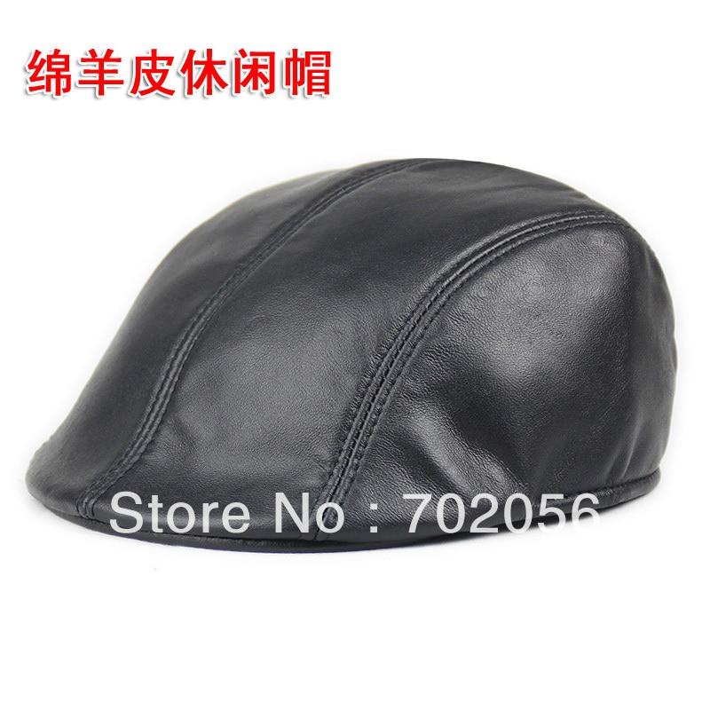 New real leather Newsboy Hat Cap Gatsby Golf Men Women Beret Cabbie Driving Flat #2900