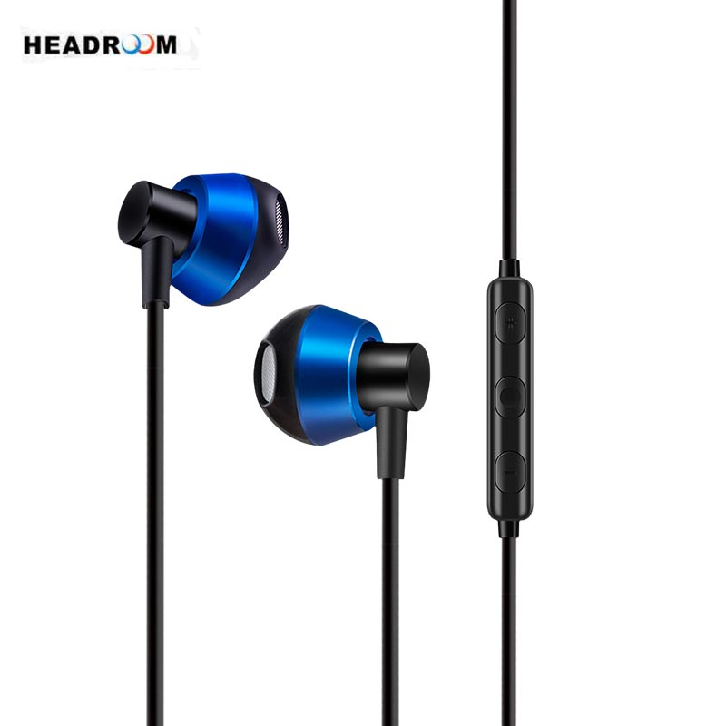 HEADROOM MS20 in-ear Earphone with Mic Sports Headset Noise Canceling Stereo Bass Earbuds for Computer PC xiaomi Android