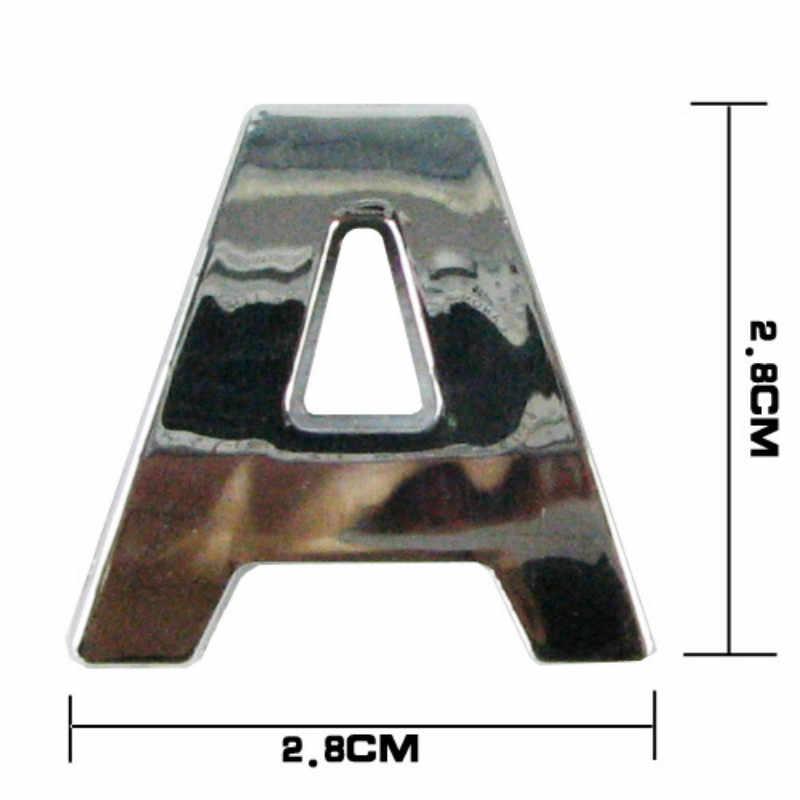 車 Diy の手紙アルファベット番号ステッカーのロゴフォルクスワーゲン vw 07 EOS 2.0 TF フェートン 6.0 EOS 2.0 FS トゥアレグ PTouareg トゥーラン