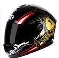 Casco de carreras de motocicletas Locomotive 4 estaciones racing cascos de la motocicleta roadster casco macho león patrón múltiple
