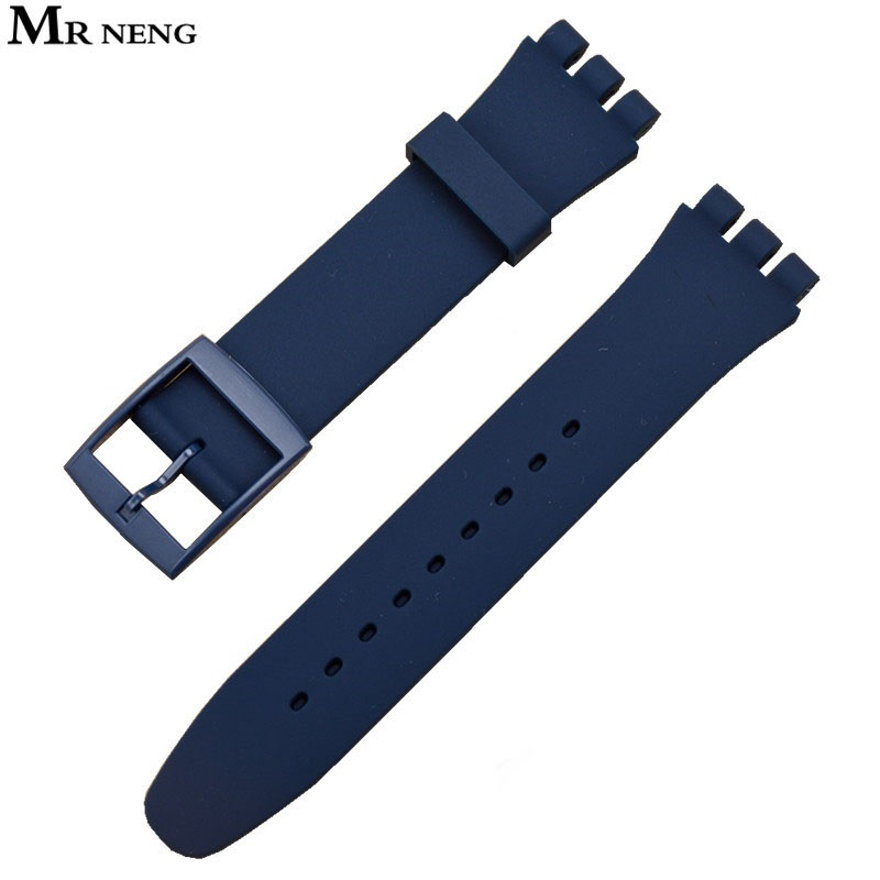 Watch Strap For Swatch Strap Silicone Watchband Replacement Watch Band 17mm 19mm 20mm Rubber Strap Men Women Watch Accessories