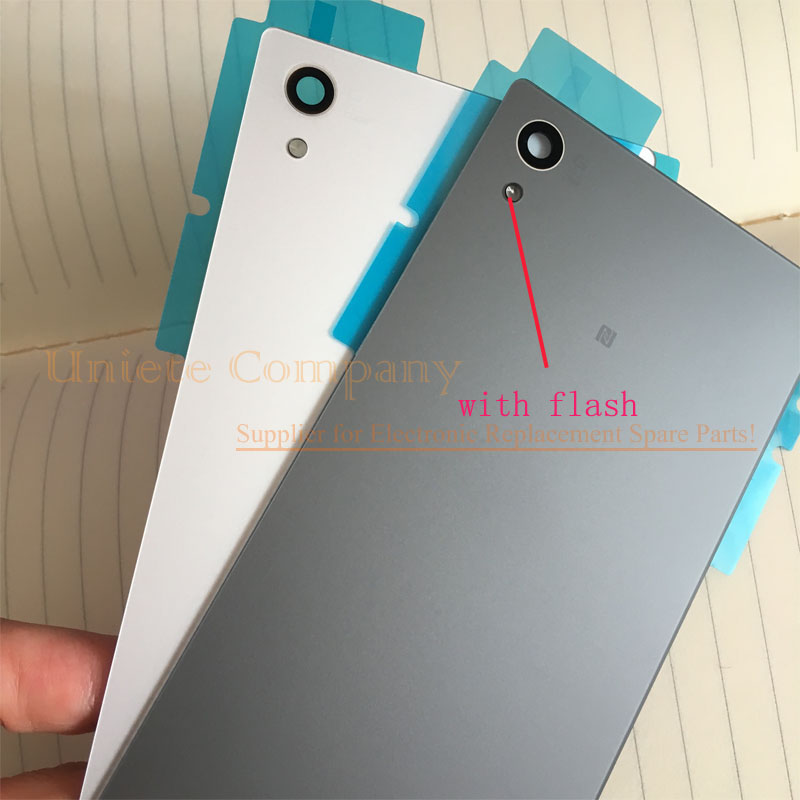Original with Flash Light Sony Xperia Z5 Glass Back Battery Cover with 3M Glue Adhesive Z5