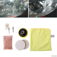 8 Pcs Car Glass Windshield Rear Side Window Scratch Remover Polishing Pads Repair Kit