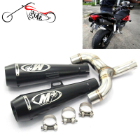 Motorcycle middle pipe for Benelli 600 BN600 BJ600 TNT600 with M4 exhaust eduction pipe