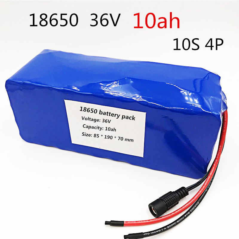 10S 4P 36V 10000mAh 500W High Power and Capacity 42V 18650 10ah Lithium Battery Motorcycle Electric Car Bicycle Scooter with BMS aerdu 10s3p 36v 7 5ah high power capacity 42v 18650 lithium battery pack ebike electric car bicycle motor scooter with 15a bms