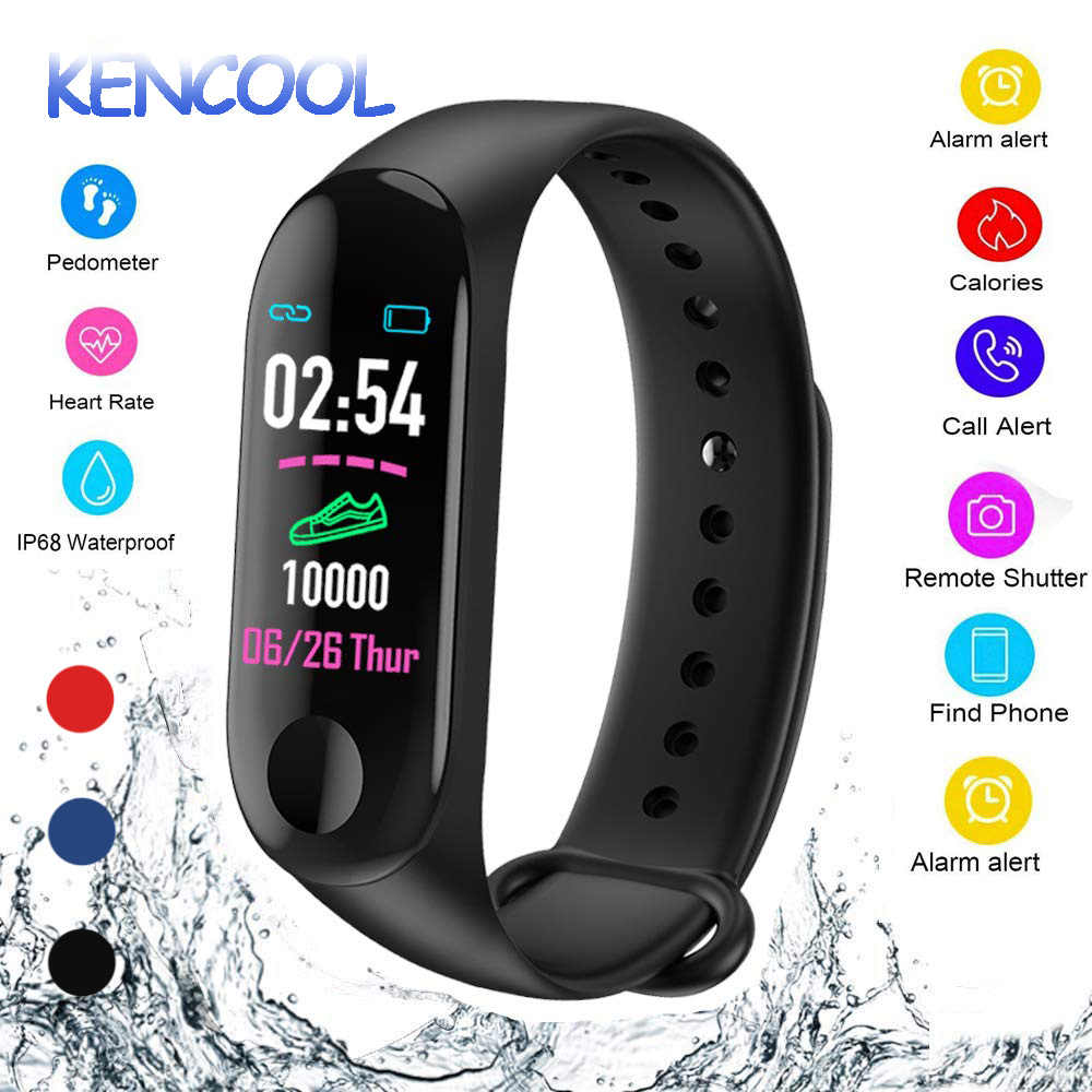Kencool Smart Band Tekanan Darah Kebugaran Tracker Watch IP65 Tahan Air GPS Tracker Heart Rate Monitor Smartband Pria Wanita