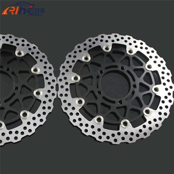 latest style motorcycle front brake disc roto For KAWASAKI ZX10R 1000CC model year 2008 2009 2010 2011 2012 2013 2014