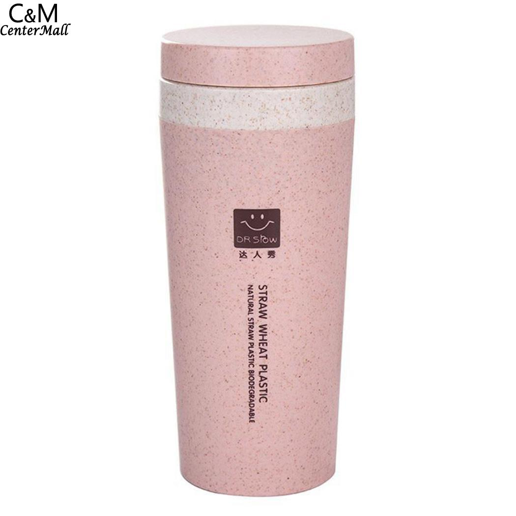 300ml Pink Thermos Bottle Flask Cover Tea Office Outdoor Cute Water Bottle Rope Portable Boiling Botle Office Equipment 50p021