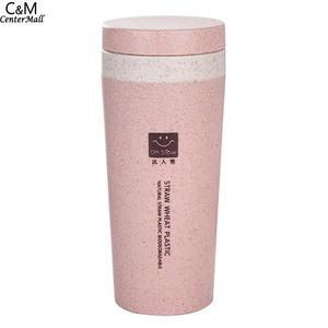 300ml Pink Thermos Bottle Flask Cover Te