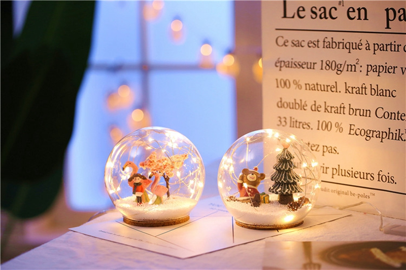 Creative LED Crystal Ball Design Table Lamp Room Decor Bedside Night Light For Girls Baby New Year Christmas Birthday Gift (9)
