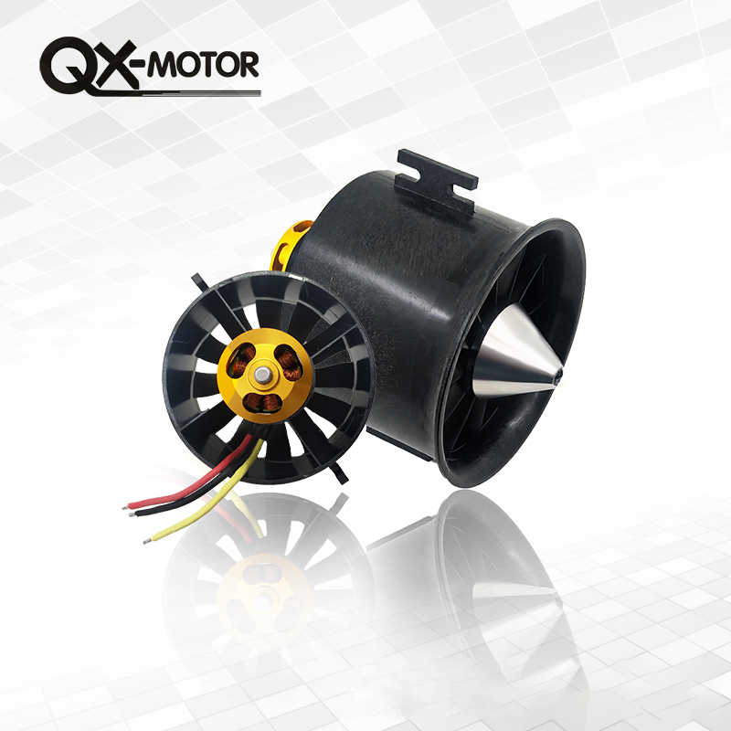 QX-Motor 70mm EDF motor QF2827 1800kv 6s power-saving version of the aircraft model fixed-wing 70mm ducted fan aircraft model the second generation dualsky ga2000 fixed wing aircraft model 90 110e level 20cc high power brushless motor gasoline