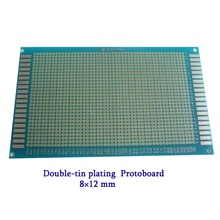Free Shipping 5pcs/lot Double-tin plating Protoboard Breadboard 8x12cm Universal Board