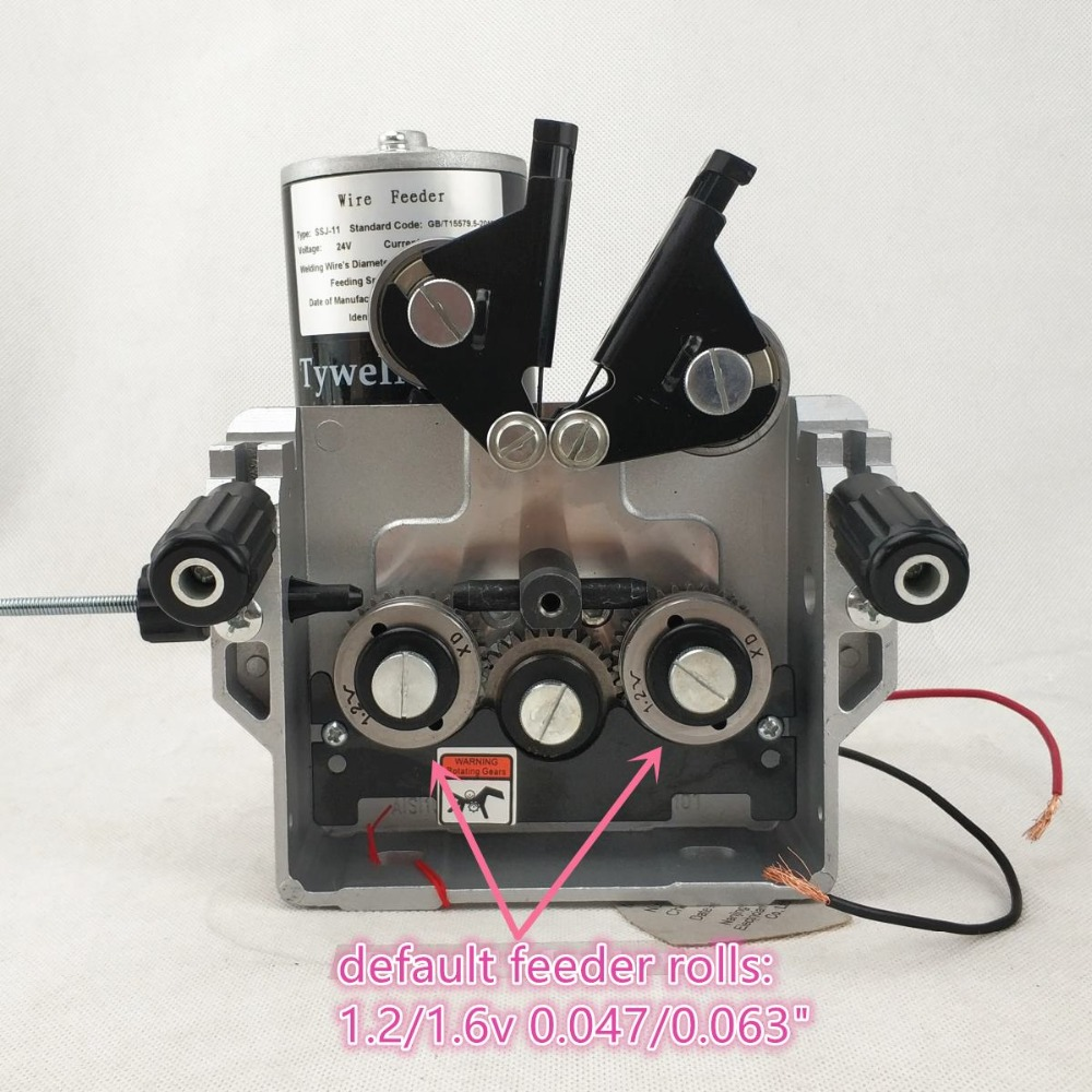 Welding Wire Feeder DC 24V Wire Feeding Assembly Wire Capacity 0.8-1.6mm/.031-.063
