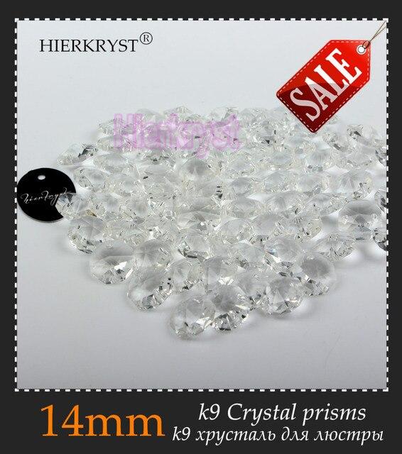 HIERKRYST 50 pcs 14 mm Octagon Beads Crystal Glass Chandelier ...