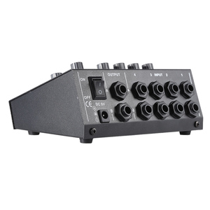 Image 4 - Ammoon AM 228 קומפקטי ערבוב קונסולת נמוך רעש 8 ערוצים מתכת מונו סטריאו אודיו קול מיקסר עם כוח מתאם כבל
