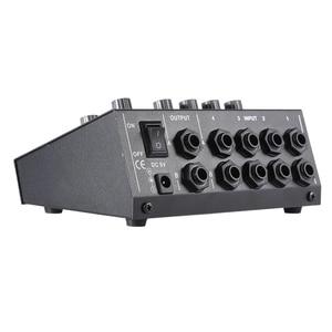 Image 4 - Ammoon BIN 228 Ultra kompakte Mischen Konsole Geräuscharm 8 Kanäle Metall Mono Stereo Audio Sound Mixer mit power Adapter Kabel