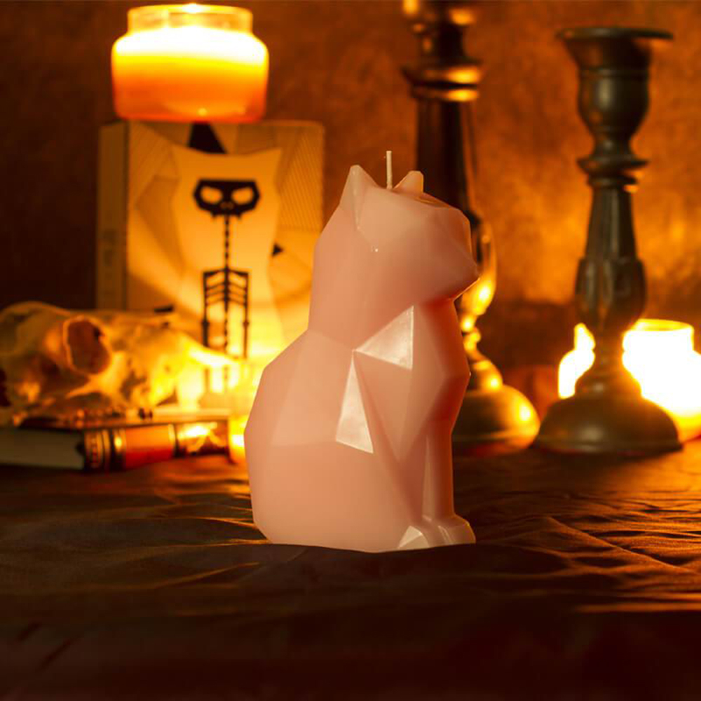 Drop Shipping Black Cat Candle Pet candle Handmade candle Craft Candle with skeleton Christmas New Year
