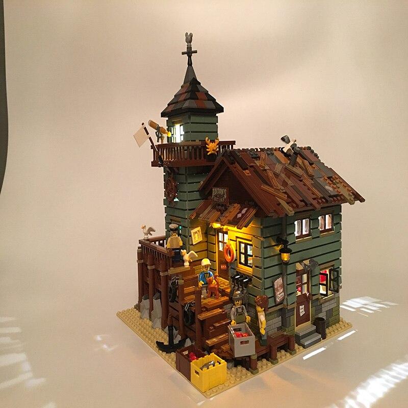 Led Light Set For Lego Building City Street 21310 for 16050 Old Fishing Store Blocks Toys Creator City Street Lighting Set       (3)