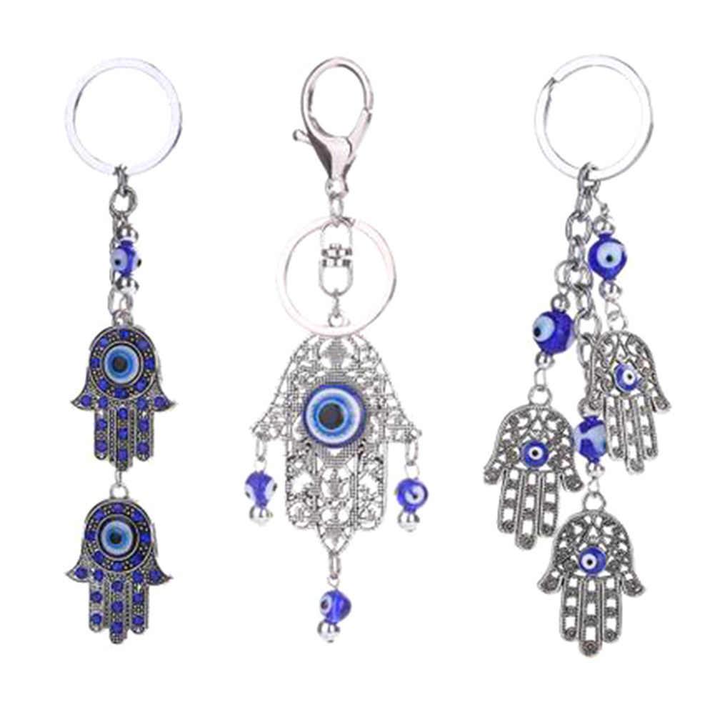 2018 Mới Thời Trang Phong Cách 1 Cái Hot Bán Dream Catcher Palm Keychain Thổ Nhĩ Kỳ Blue Eyes Hợp Kim Keychain Mặt Dây Chuyền Túi Phụ Nữ hoặc người đàn ông