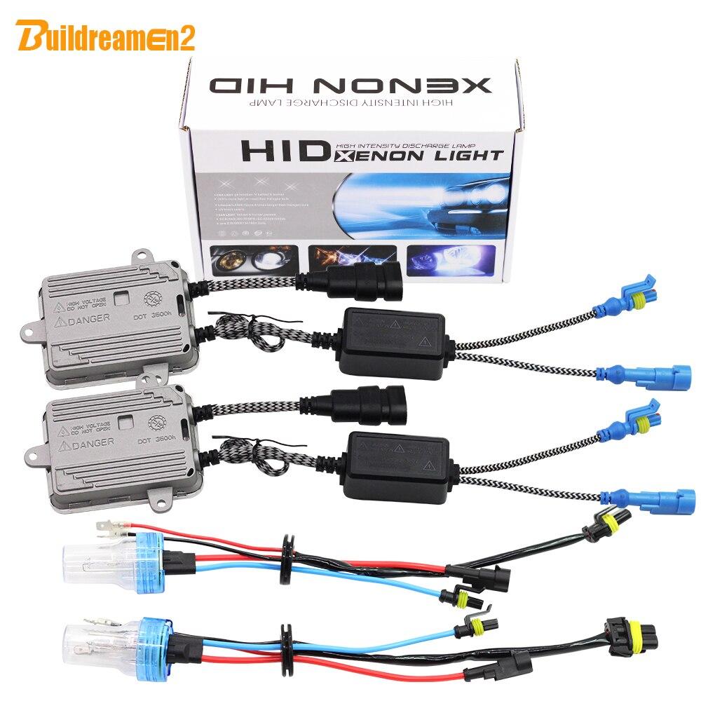 Buildreamen2 55W H1 H3 H7 H8 H9 H11 9005 HB3 9006 881 880 Car Light HID Xenon Kit AC Ballast Bulb 4300K Auto Headlight Fog Light